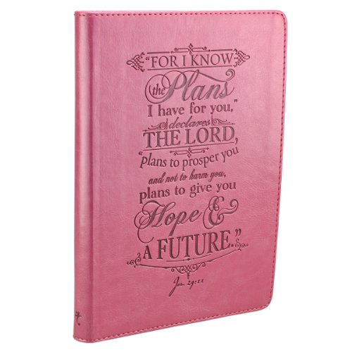 Pink Lux-Leather Journal I Know the Plans