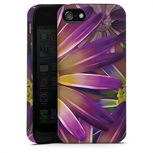 Apple iPhone X Silikon Hülle Case Schutzhülle Lila Blume Blüte Tough Case matt