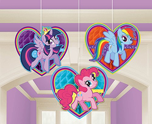 295513 My Little Pony Honeycomb Dekoration Kit ()