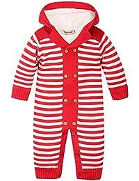 ZOEREA Suéter sweater peleles bebe invierno abrigos bebe niño sudaderas niño encapuchado camisa rayada suéter navidad ropa 0-18 meses