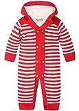 ZOEREA Unisex Maglione bambino tutine neonato cappuccio Maglioni Cardigan bimba Tutina pagliaccetto Giacca a strisce