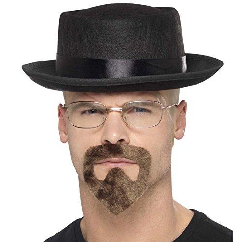 Heisenberg Hut Kostüm - Hut Brille Spitzbart Heisenberg Kostümset Verbrecher Kostüm Walter White Gangster Kostümzubehör Breaking Bad Outfit Lehrer Karneval Zubehör