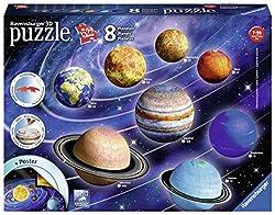 Questo set di 8 diversi puzzle 3D è possibile costruire e creare il sistema solare. I puzzle 3D sono scalati per rappresentare le diverse dimensioni dei pianeti, Saturno e Giove sono rappresentati come 108PC puzzle, Urano e Nettuno come 72pc, terra e...