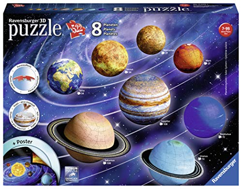 Ravensburger- Planetary Solar System Puzzle 3D, Multicolor (1)