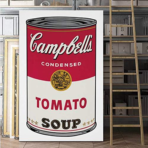 SUNNYFOR Rahmenlose Malerei Pop Kunstdruck Wandmalerei Andy Warhol Tomatensuppe Abstrakte Kunst Dekorative Bild Wandkunst Drucke Für Wohnzimmer Ungerahmt -