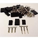 MR-Onlinehandel ® 10 Paar (20 Stück) Graupner/JR kompatible Servostecker Stecker und Buchse vergoldet Crimp Set