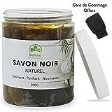 Savon Noir Marocain 300g, 100% Naturel, Exfoliant et Purifiant Pour le...