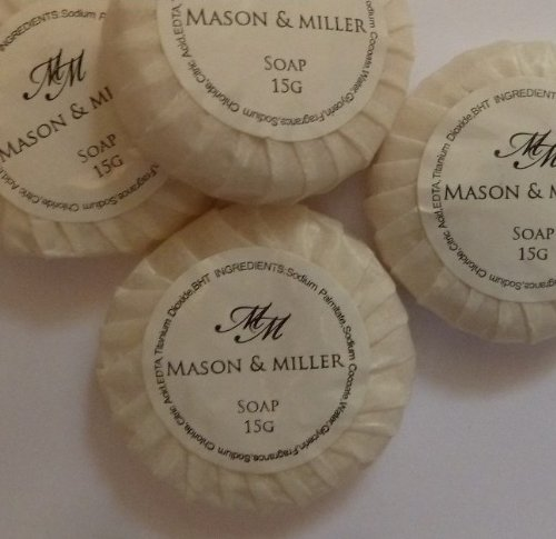 25 x Mason & Miller Tissue Pleated Guest Soaps