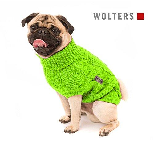 Wolters | Zopf-Strickpullover für Mops&Co in Beige | Rückenlänge 50 cm -