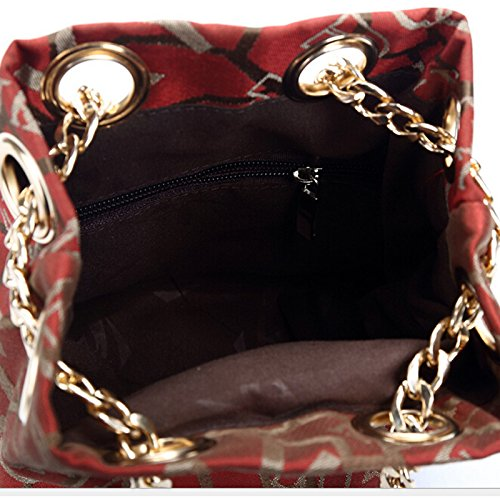 Pairs D, Borsa a zainetto donna marrone Beige Red