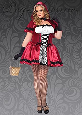 Womens Plus Size gotischen Red Riding Hood-Kostüm 3X/4X (UK 20-22) (Plus Size Kostüme 3x)