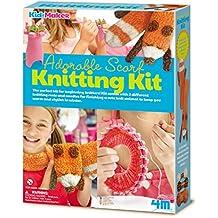 4m 404722Adorable Écharpe à tricoter Ensemble, Multi