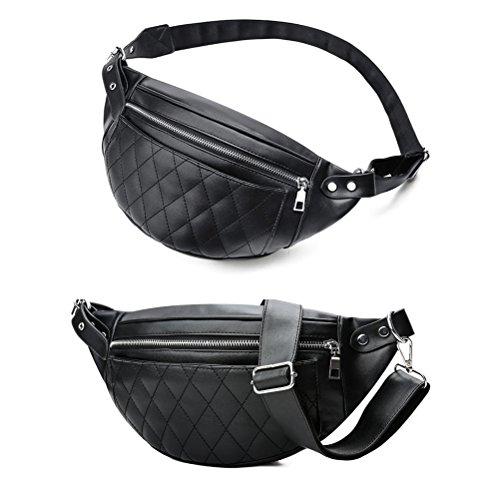 TTD La mode pu cuir taille banane sac à bandoulière sac sac à dos pochette de portable pour hommes ou femmes-Tipo A