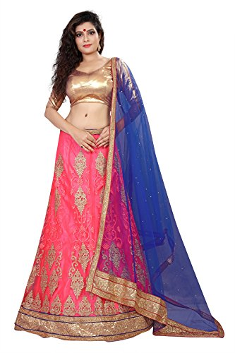 Oomph! Women's Semi Stitched Net Lehenga Choli for Weddings, Reception, Marriage -...