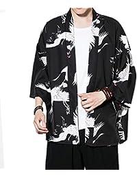 Zhuhaitf Verano Cloak Cárdigan Kimono Japón Capa para Hombres Mujeres Kimono Jacket Casual Chinese Style,