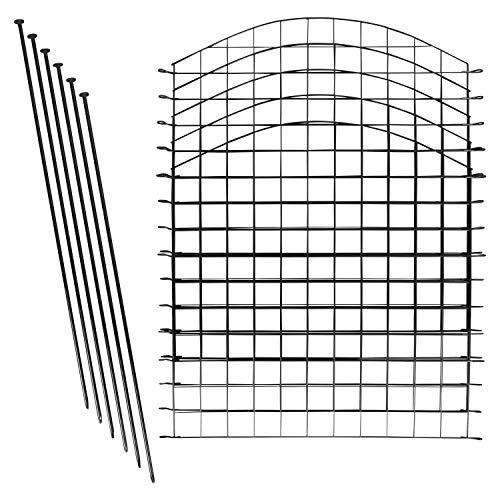 Teichzaun Set / Komplettsett in versch Verpackungseinheiten und versch Formen (10x Oberbogen, Anthrazit)