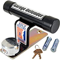 British Made Black Powder Coated Garage Defender Master - Best Garage Security