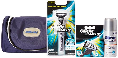 Gillette MACH3 Limited Edition Travel Pack (free Gillette kit bag)  available at amazon for Rs.498