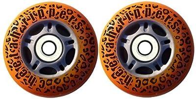 Cheetah Rippers Cheetah Wheels for Ripstik Wave Board Abec 9, 76mm, Orange by Cheetah Rippers