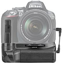 Neewer® Pro (Pro versión de Producto de Neewer)Manija de la batería funciona con EN-EL14 Baterías + 2 Piezas de EN-EL14 Batería de reemplazo 7.4V 1200mAh para Nikon D5100 5200 D5300 Cámara reflexivas digitales