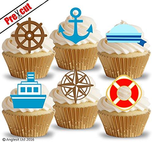 tical & Sailor Zubehör II. essbarem Reispapier/Waffel Papier Cupcake Kuchen Dessert Topper Geburtstag Party Dekorationen ()