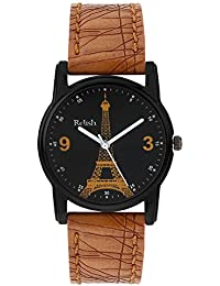 Relish Analog Eiffel Tower Black Dial Watches for Girls & Women RE-L067TT