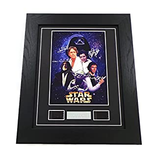 Star Wars Signed + A New Hope Film Cells Framed