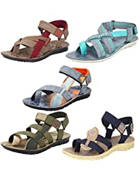 Earton Men Combo Pack of 5 Sandals & Floaters