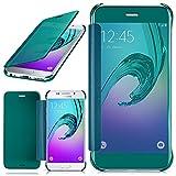 moex Samsung Galaxy A3 (2016) | Hülle Transparent TPU Void Cover Dünne Schutzhülle Türkis Handyhülle für Samsung Galaxy A3 2016 Case Ultra-Slim Handy-Tasche mit Sicht-Fenster