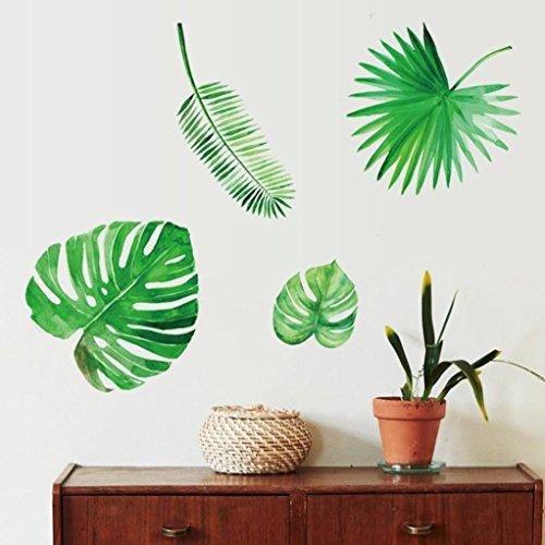 Wandaufkleber, erthome Grüne Pflanze verlässt Wall Sticker Aufkleber Home Room Decor abnehmbar (Bad Blatt)