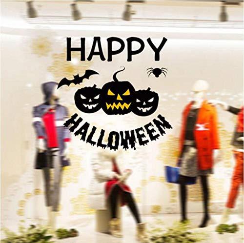 Oujing happy halloween wall sticker window decorazioni per la casa decalcomania decor * maschera halloween * 23 2019vendita 45x45cm