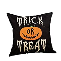 Sofa for Cushion, iHee Linen Pillowcase Throw Pillow Case Halloween Pumpkin Witch Cushions Cover Square 18x18 Inches Home Decor (18 x 18 Inches, Gloomy Words)