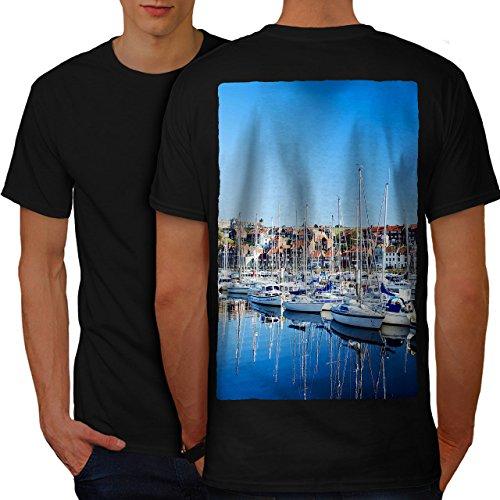 Boot Bucht Neuheit Natur Cool Yachten Herren L T-shirt Zurück | Wellcoda (Bucht Hawaii-shirt)