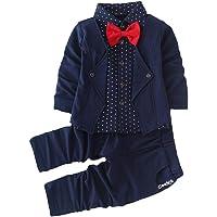 Hopscotch Boys Cotton Blazer Style Shirt and Pant Set in Navy Colour