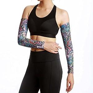 QJHP Sonnenschutz UV Arm Ärmel Neutral Kühlung, Atmungsaktiv, Hygroskopisch, Hohe Elastizität Für Radfahren Angeln Klettern Fahren