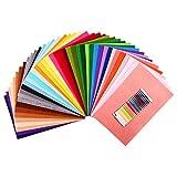 SOLEDI Feltro Colorato Feltro in Fogli 41 Colori 20*30 cm Feltro e Pannolenci Usato per DIY Mestieri per Bambini Protezione Ambientale, Sicura e Non Tossica con Bobina di Filo Tre Dimensioni