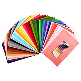 SOLEDI Feltro Colorato Feltro in Fogli 41 Colori 20*30 cm Feltro e Pannolenci Usato per DIY Mestieri per Bambini…
