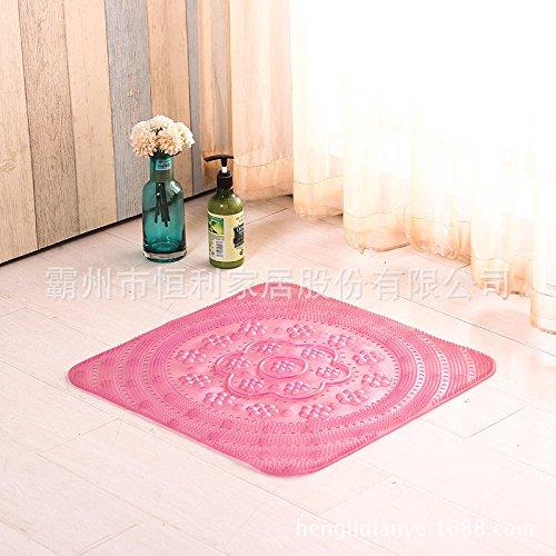 Sala da bagno antiscivolo tappetino doccia bagno piedi wc wc tappetino porta di aspirazione tappetino anti-scivolo per pad , piazza rosa trasparente ,50cm*50cm