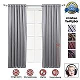 Super Dash Grey 1 Stück Lärmreduzierung Wärmedämmung Fenster Vorhänge Schalldämmung Zimmer Verdunkelung Fenster Vorhänge SD1145 1,5 x 2,7 m