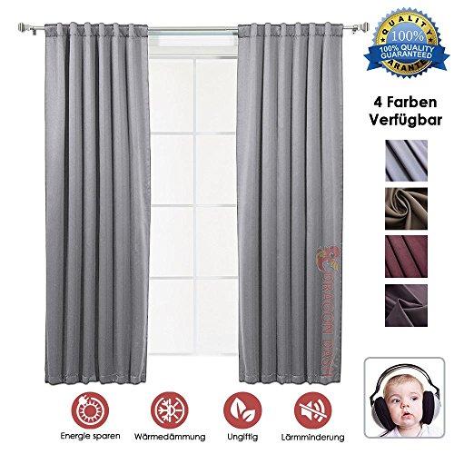 Super Dash Grey 1 Stück Lärmreduzierung Wärmedämmung Fenster Vorhänge Schalldämmung Zimmer Verdunkelung Fenster Vorhänge SD1145 1,5 x 2,7 m (Schaum-panel-versand)