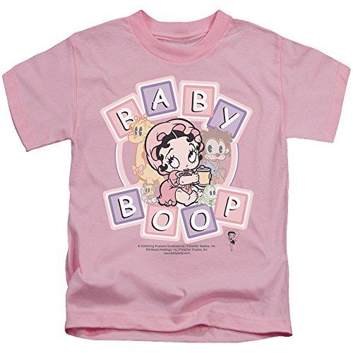 Betty Boop Cartoon baby boop & freunde T-shirt für Jungen Jugend (4) Rosa (Pink-jugend-mädchen T-shirt)