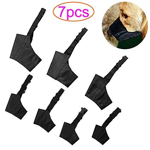 Superlele 7 Stück Maulkörbe Einstellbare Beißkörbe für Hund