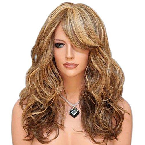 Baofeng gewellt Perücken 3Tones Farbe gemischt Farbverlauf Farbe Frauen Perücken Cosplay Volles Haar Perücken Party Perücke mit Perücke Gap Perücke Kamm (Drei Menschen Kostüme)