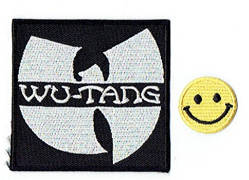 WU-TANG : an American hip hop music group apliques bordado hierro en parches with Yellow Tiny Smiley Patches by PATCH CUBE