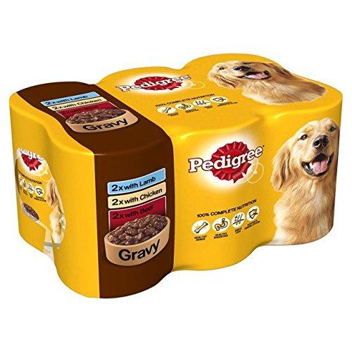 Pedigree - Lata para perros (6 x 400 g), color gris