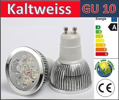 Energmix 10x GU10 LED SPOT Lampe 4.5W LED Strahler Energiesparlampe Leuchtmittel *Kaltwei* 230 Volt 4.5 Watt, 2276x10 von Net GmbH - Lampenhans.de