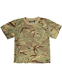 Kids Army MTP Camouflage Cotton T-Shirt - Multi Terrain Camo Ages 3 - 13 Years