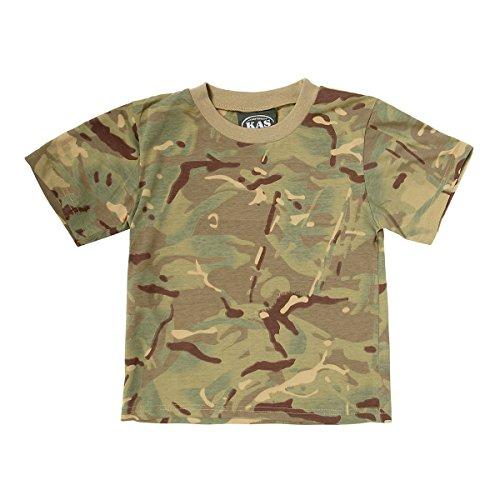 Army bambini MTP camuffamento cotone T - shirt - Multi Terrain Camo Età 11 - 12 anni