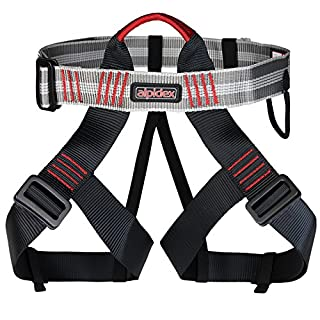 ALPIDEX Universal climbing harness TRAD TAIPAN, Colour:red pepper