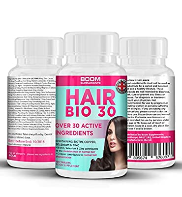 Hair Vitamins | #1 Hair Growth Products For Women | Biotin Hair Treatment Tablets | 120 Hair Vitamins Tablets | FULL 4 Month Supply | Helps Grow Hair | Achieve Thicker, Fuller Hair FAST | Safe And Effective | Best Selling Hair Growth Pills | Manufactured